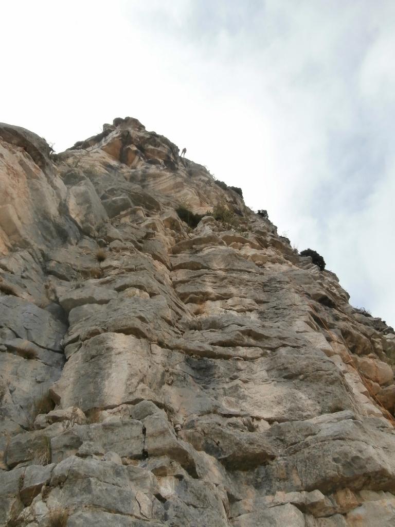 Via corda et rappel au Baou de St Jeannet