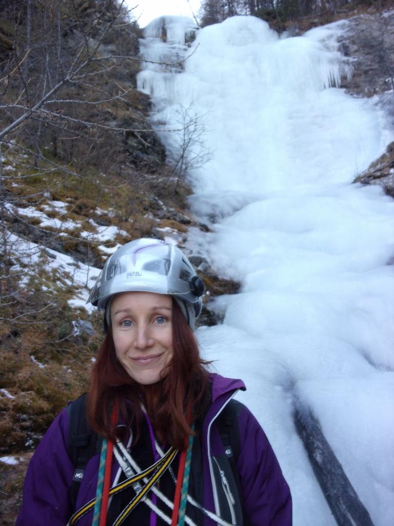 Cascade de glace du torrent du Pisan 31décembre 2015