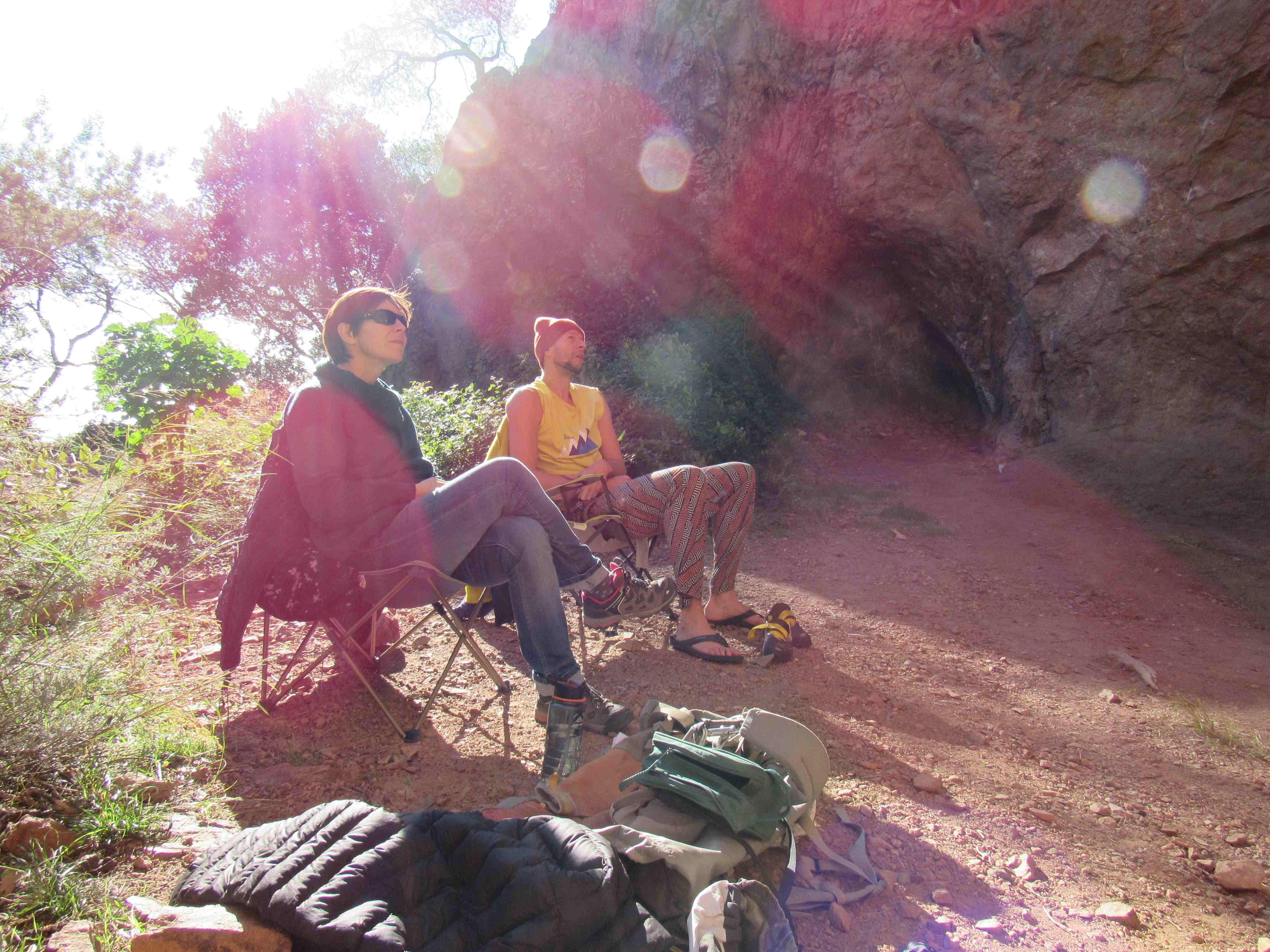 3 jours dans l'esterel : Escalade au dramont, rando à roquebrune et grande voie au rocher saint barthelemy (jour1)